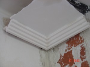 Muestra de moldura y falso techo