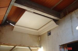 Muestra de cornisa y falso techo